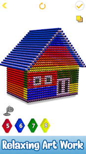 Houses Magnet World 3D - Build by Magnetic Balls