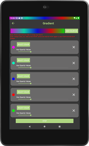 Color status bar - Customized Color & Wallpaper 47 screenshots 17