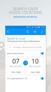 Rentalcars.com Car Rental App Screenshot
