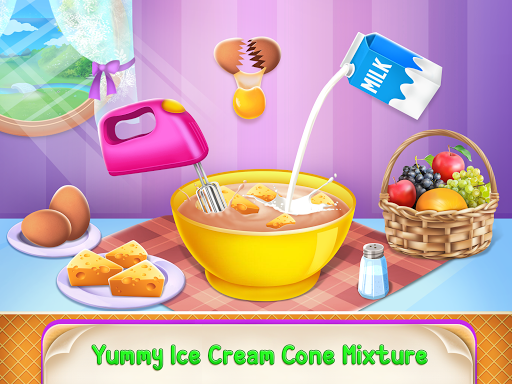 Icecream Cone Cupcake Baking Maker Chef apktram screenshots 16