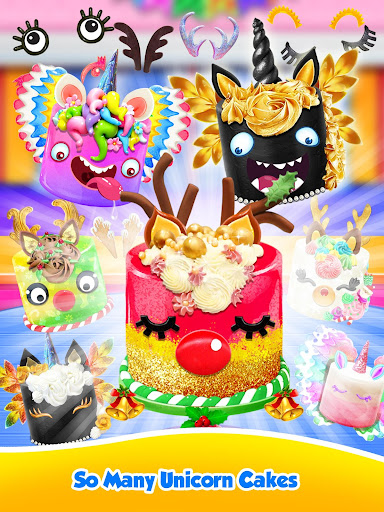 Unicorn Food - Sweet Rainbow Cake Desserts Bakery 3.1 screenshots 8