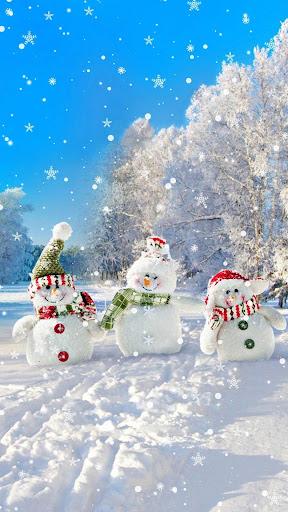 Snowman Live Wallpaper u2013 Christmas Backgrounds screenshots 3