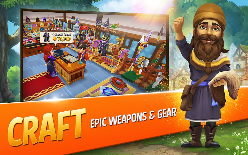 Shop Titans: Epic Idle Crafter, Build & Trade RPG poster 0