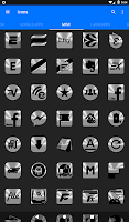 Silver and Black Icon Pack Free