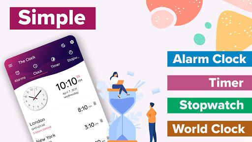 Alarm Clock - Timer, Stopwatch & World Clock Free  screenshots 1