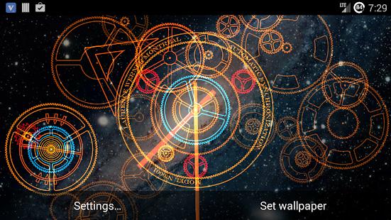 Hypno Clock Live Wallpaper