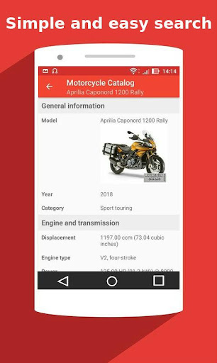 Motorcycle Catalog -  All Moto Information App 2.5 Screenshots 4