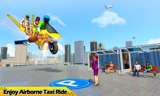 Flying Hover Bike Taxi Driver City Passenger Sim 1.6 Screenshots 5