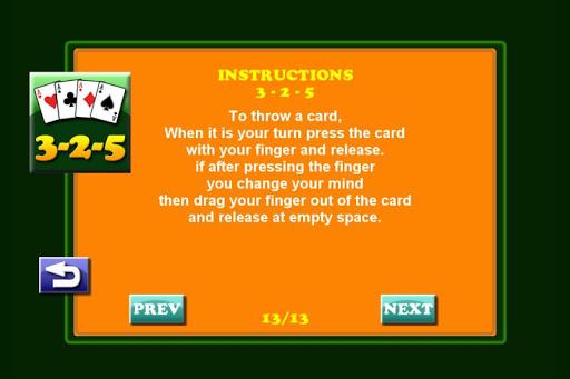 3 2 5 card game screenshot 2
