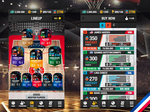 Basketball Fantasy Manager 2k20 ud83cudfc0 NBA Live Game 6.20.010 screenshots 6