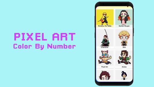 Pixel Kimetsu No Yaiba Color By Number - KNY Paint 126.0 screenshots 1