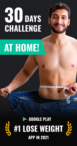 Lose Weight App for Men - Weight Loss in 30 Days  screenshots 1