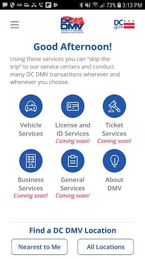DC DMV screenshot 1