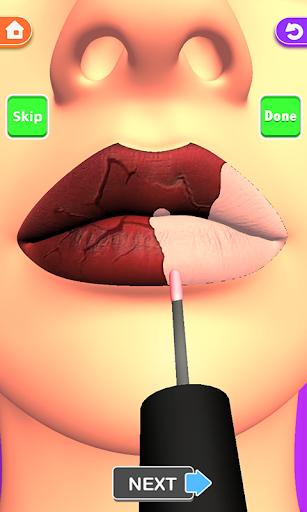 Télécharger Lèvres faites! Jeu ASMR 3D Lip Art satisfaisant mod apk screenshots 1