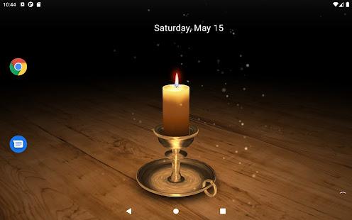 3D Melting Candle Live Wallpaper Lite