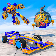 Basket Ball Robot Transform wars: Robot Car Game
