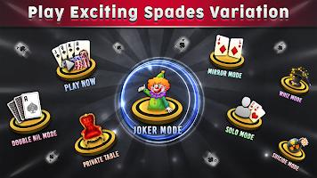 screenshot of Free Spades Card Game