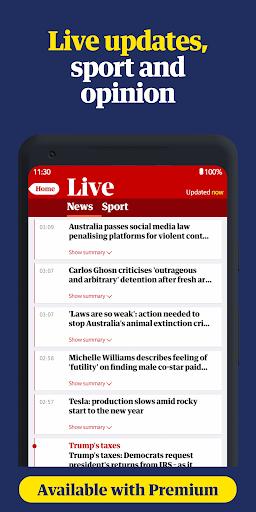 The Guardian - Live World News, Sport & Opinion screen 2
