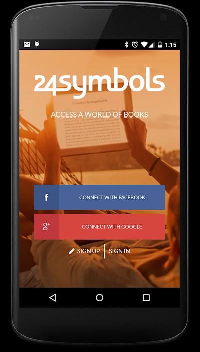 24symbols – online books Android App Screenshot