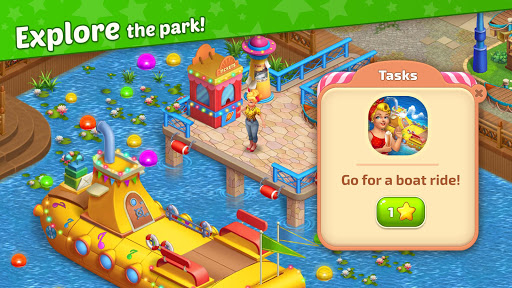Matchland - Build your Theme Park  screenshots 4