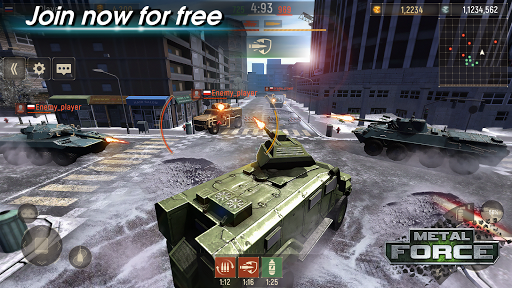 Metal Force: PvP Battle Cars and Tank Games Online  screenshots 16