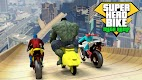 screenshot of Super Hero Bike Mega Ramp - Racing Simulator