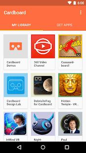 Google Cardboard Screenshot