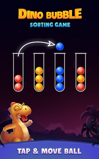 Color Ball Sort Puzzle - Dino Bubble Sorting Game  screenshots 17