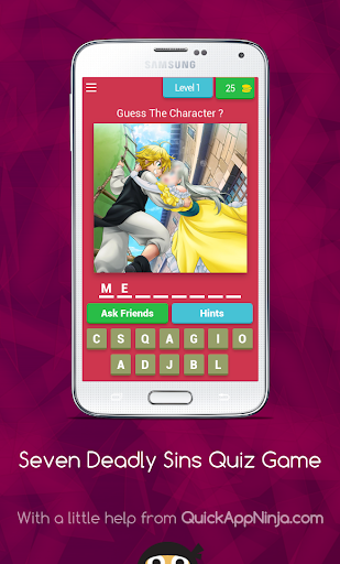 Nanatsu no taizai - Quiz Game 8.11.3z screenshots 1