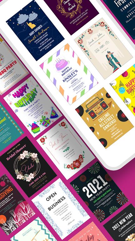 Invitation Maker - Birthday & Wedding Card Design poster 0