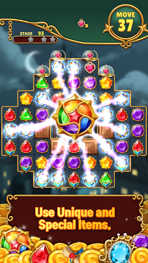 Jewels Mystery: Match 3 Puzzle apkslow screenshots 2