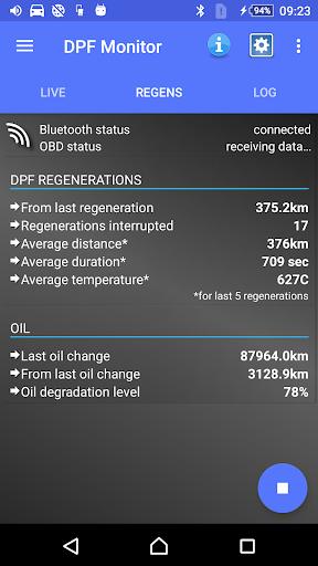 DPF Monitor for Fiat & Alfa Romeo  Screenshots 2