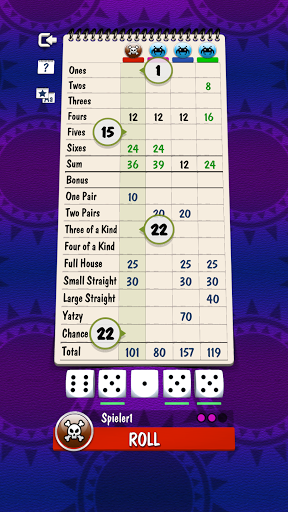 Yatzy Offline and Online - free dice game  screenshots 1