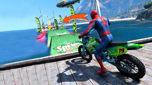 Superhero Tricky Bike Stunt GT Racing  screenshots 5