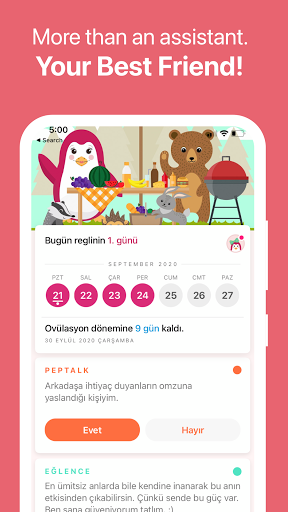 Pepapp Period Tracker & Menstrual Cycle Calendar  Screenshots 3