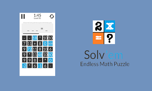 Solv'em - Endless Math Puzzle Screenshot