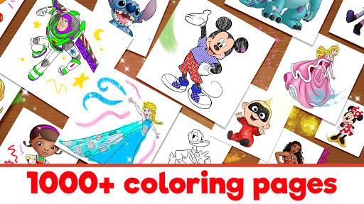 Disney Coloring World - Drawing Games for Kids 8.1.0 screenshots 2