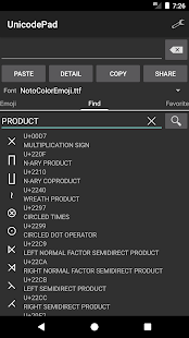 Unicode Pad Screenshot