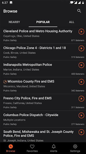 Police Scanner, Fire and Police Radio 1.23.7-201110027 Screenshots 7