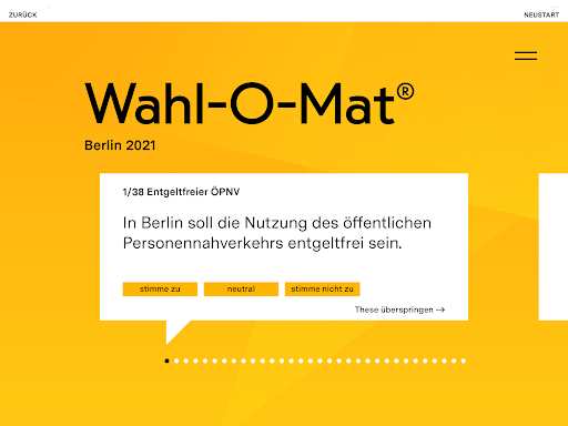 Wahl-O-Mat  screenshots 10