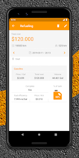 Drivvo – Car management, Fuel log, Find Cheap Gas Screenshot