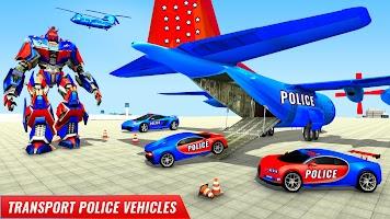 US Police Robot Car Transporter Police Plane Game