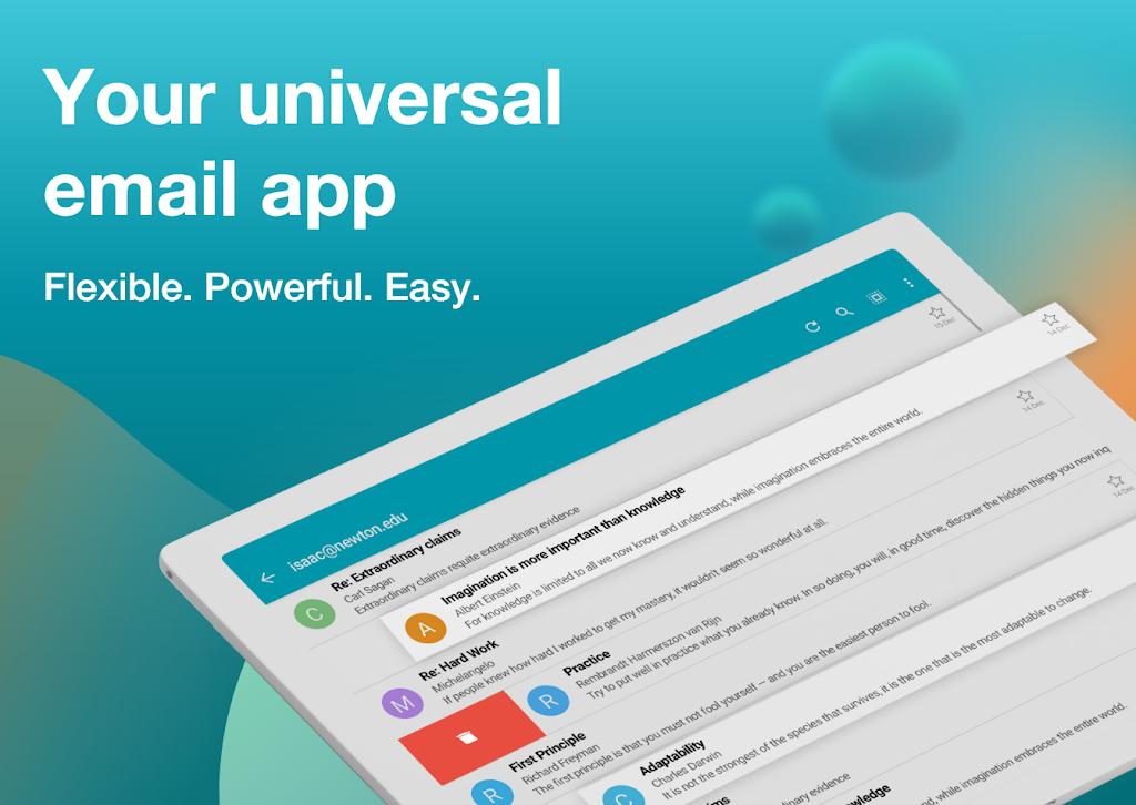 Email Aqua Mail - Exchange, SMIME, Smart inbox poster 17