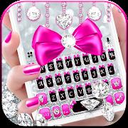Silver Bowknot Keyboard Theme
