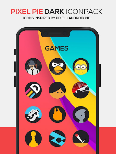 pixel pie dark icon pack screenshot 3