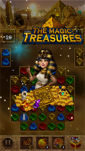 The magic treasures: Pharaoh's empire puzzle apkslow screenshots 8