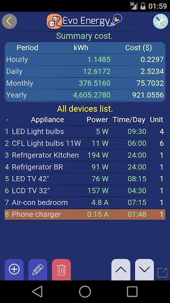 Captura 11 de EvoEnergy - Electricity Cost Calculator Free para android