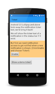 Ticker! Notification text beta