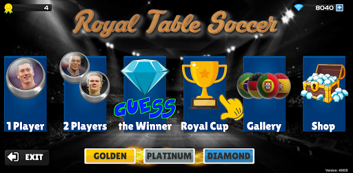 Royal Table Soccer: The Best Button Game modavailable screenshots 4