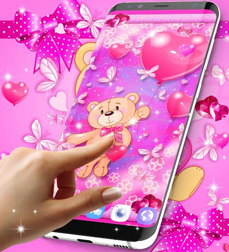 Teddy bear love hearts live wallpaper android2mod screenshots 5